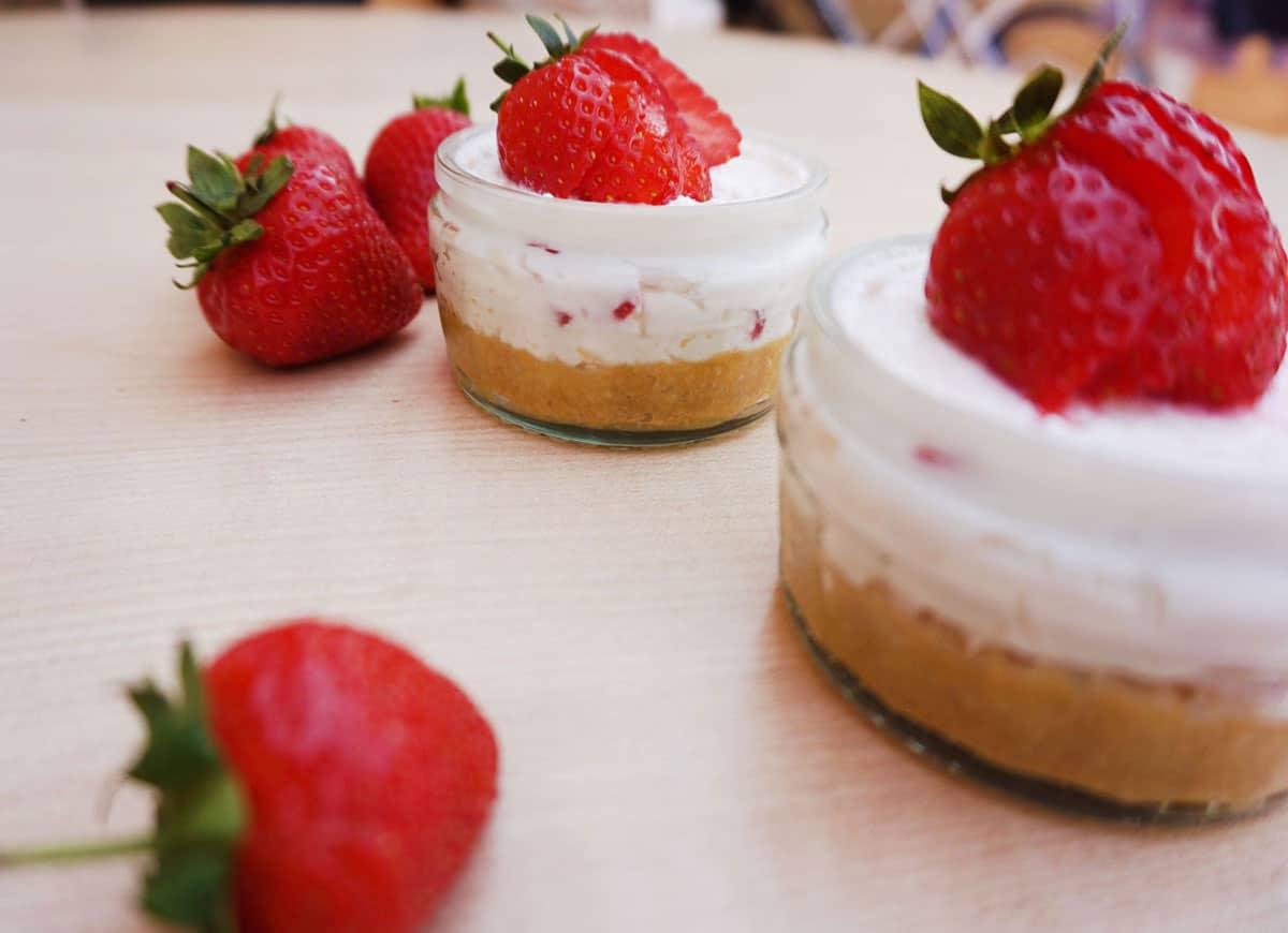 cheesecake fragole e taralli